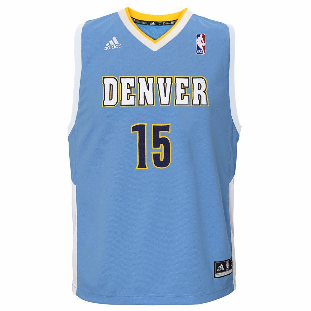 dda15cbb Amazon.com : adidas Carmelo Anthony Denver Nuggets NBA Boys Light Blue  Official Road Replica Basketball Jersey : Clothing