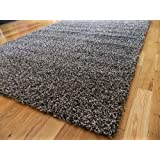 LIVING AREA STYLISH GREY SILVER MIX MEDIUM NEW MODERN SOFT THICK SHAGGY RUGS NON SHED RUNNER MATS 80 X 150 CM