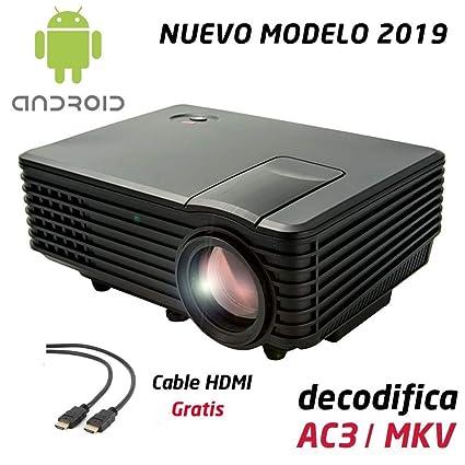 Proyector Full HD 1080P, LUXIMAGEN V100W (2019 Nuevo), Proyector ...