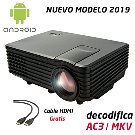 Proyector Full HD 1080P, LUXIMAGEN V100W (2019 Nuevo), Proyector Maxima luminosidad Portátil LED Cine en casa 1920x1080 HDMI Android USB TDT para ...