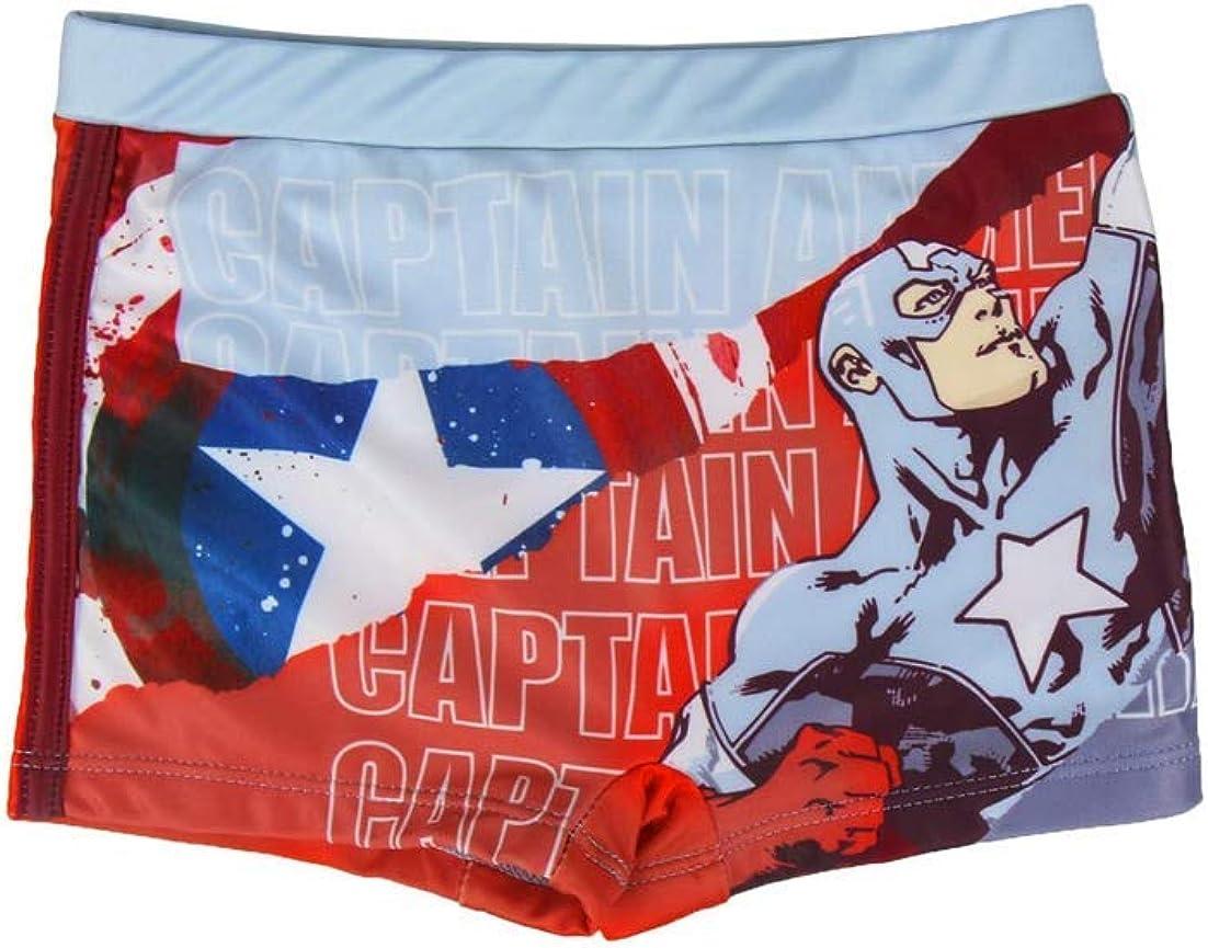 Marvel Avengers Capitan America | Bañador Premium Niños | Calzoncillos | Slip | Pantalones Cortos | Secado Rápido |