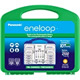 Panasonic KJ17MCC82A eneloop Power Pack, 8AA, 2AAA, 2 C Adapters, 2 D Adapters, Advanced Individual Battery Charger and Plast