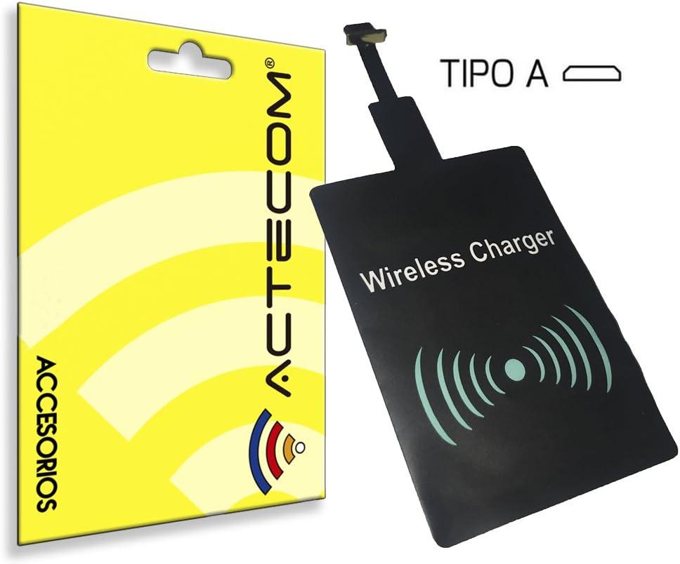 actecom® Receptor Carga QI INALAMBRICO MICROUSB Micro USB para MOVILES TELEFONO Smartphone Android Tipo A