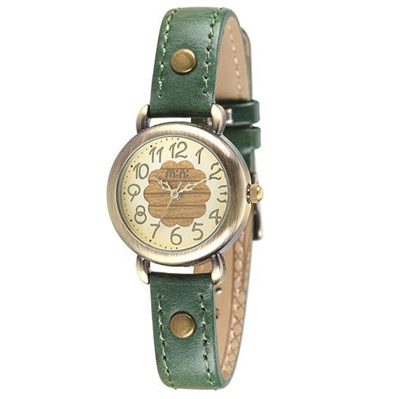 Correa de cuero de las mujeres Delfín manos Casual muñeca relojes Silvery funda rojo (modelo