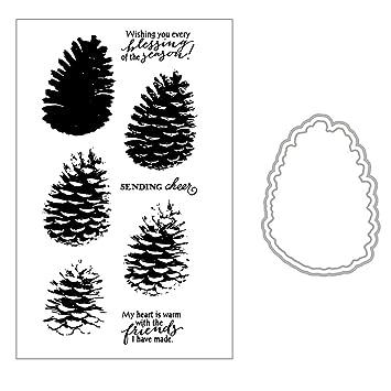 Kalttoy DIY Silikon Klar Stempel Blatt Scrapbooking Album Foto DIY Qstern Geburtstag Weihnachten Valentinstag Thanksgiving Geschenke