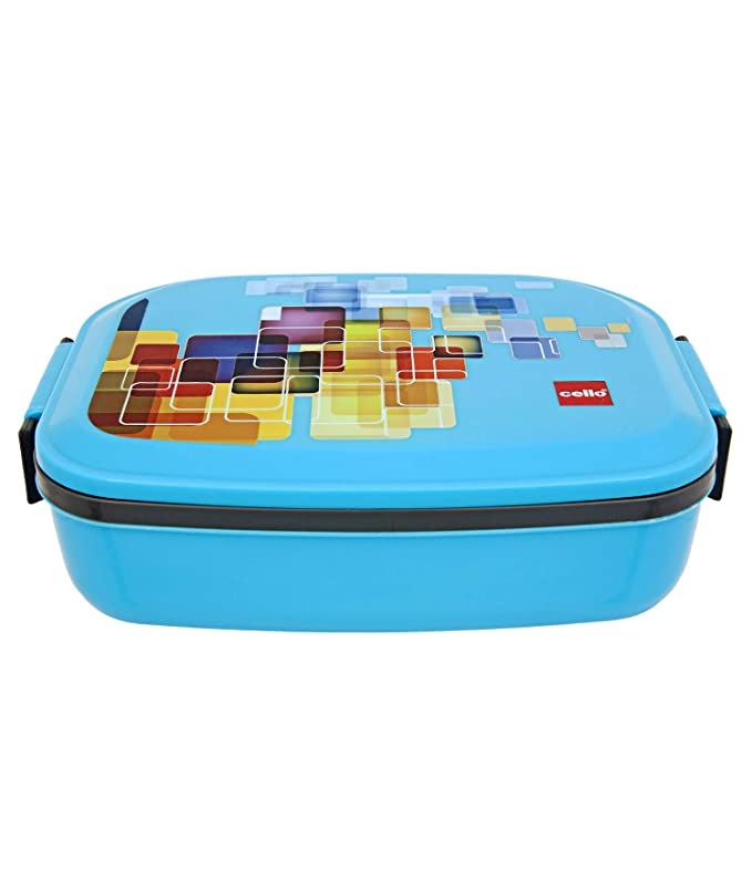 Cello Doppler Plus Insulated Lunch Box,2 Containers,Blue