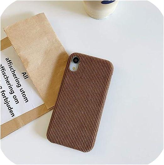Amazon.com: Winter Autumn Corduroy Fabric Phone Cases for iPhone ...