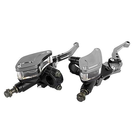 """CNC Aluminio 7/8""""22mm motocicleta freno hidráulico palanca de embrague conjunto con depósito"""