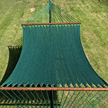 TOUCAN OUTDOOR 55 Inch Caribbean Rope Hammock, 2 Person 450 lbs Capacity, Perfect for Outdoor Patio Yard, Green