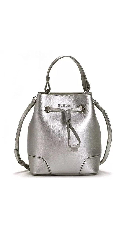 885823016961 Amazon.com  Furla Stacy Mini Drawstring Crossbody Handbag Silver  Shoes