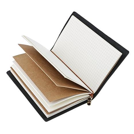 Baoblaze Cuaderno de Llanura Vendimia Viajeros Cuaderno ...