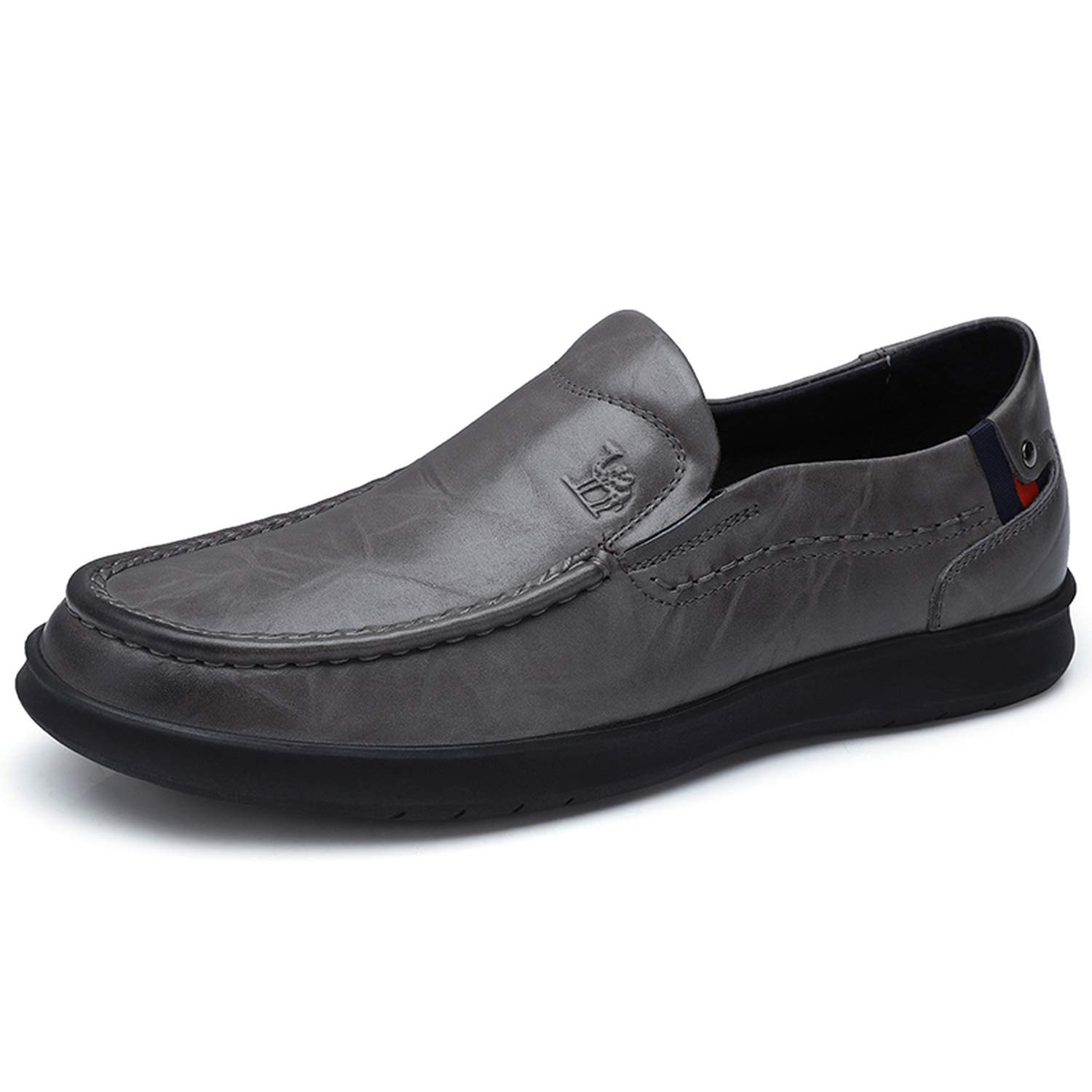 Mens Shoes Genuine Leather Shoes Men Loafers Retro Trend Casual Business Male Flats