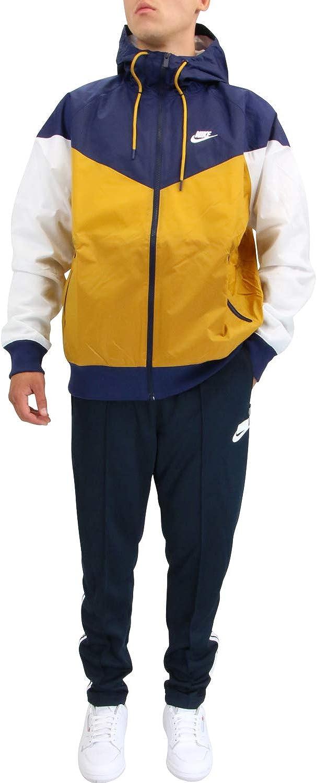 Nike - Windrunner NSW He WR Jkt HD Bianco/Blu/Beige AR2191-727 - 192904 Bianco