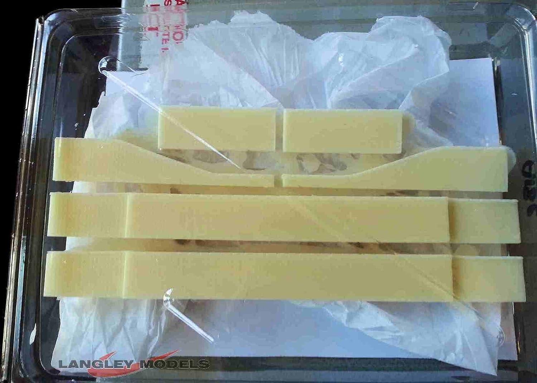Langley Models Canal Lock Walls Brick Effect N Scale UNPAINTED Model Kit A18e