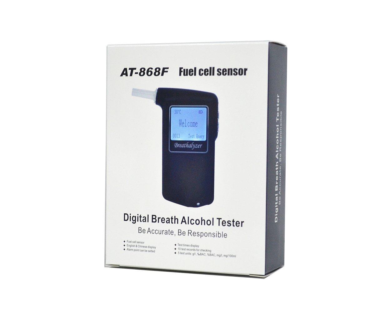 GREENWON Prefessional Police Digital Fuel cell sensor breath alcohol tester Breathalyzer AT-868F