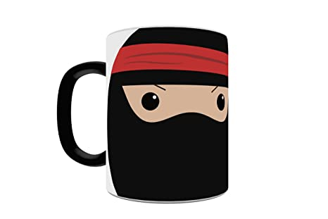 Trend Setters Ninja in Training Heat Activated Morphing Mugs, Black to White
