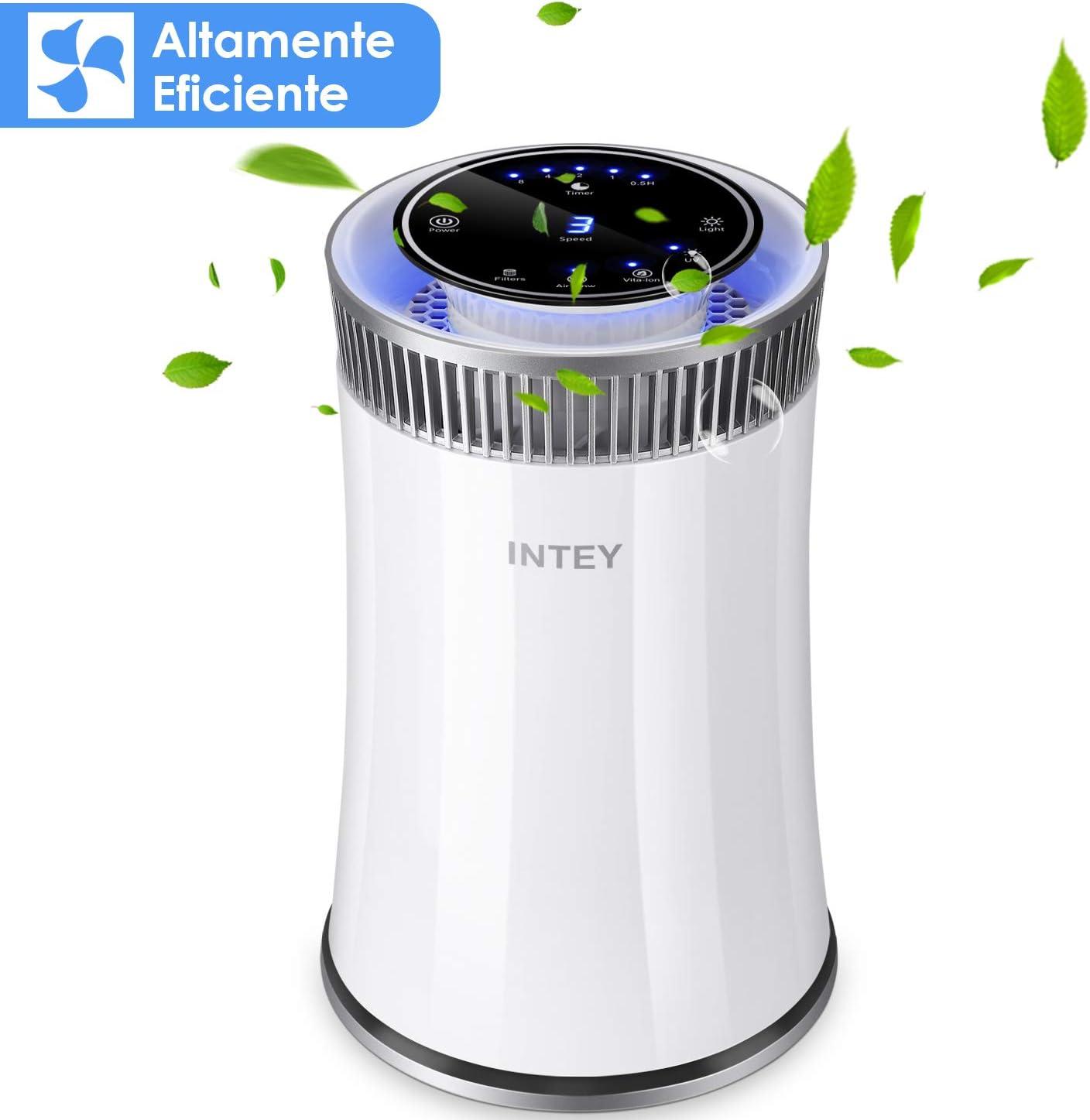INTEY Purificador de Aire Eficiente,Filtro HEPA-99.97% Efectos de ...