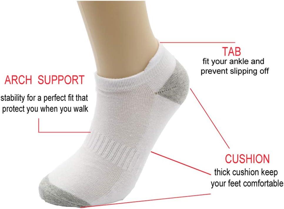 Frank&Claire Women Men Cotton Hidden Sport Athletic Heavy Cushioned Tab Running Socks Low Cut Toe Socks