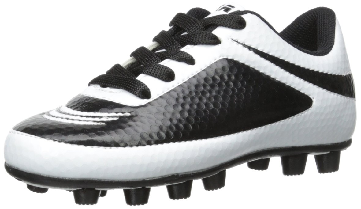 Vizari Infinity FG Soccer Cleat (Toddler/Little Kid/Big Kid), White/Black, 13 M US Little Kid