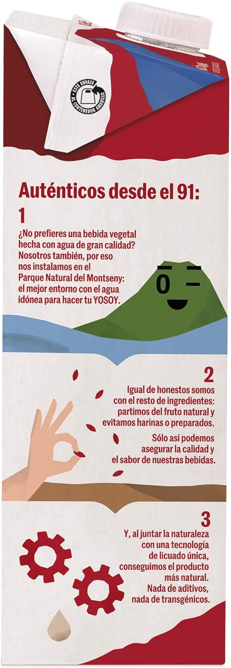 Yosoy - Bebida Vegetal de Almendras sin Azúcar - Caja de 6 x 1L: Amazon.es: Alimentación y bebidas