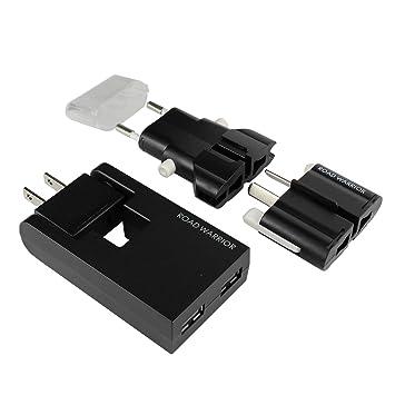 Amazoncom Road Warrior 2 Port Usb Wall Charger Universal Plug