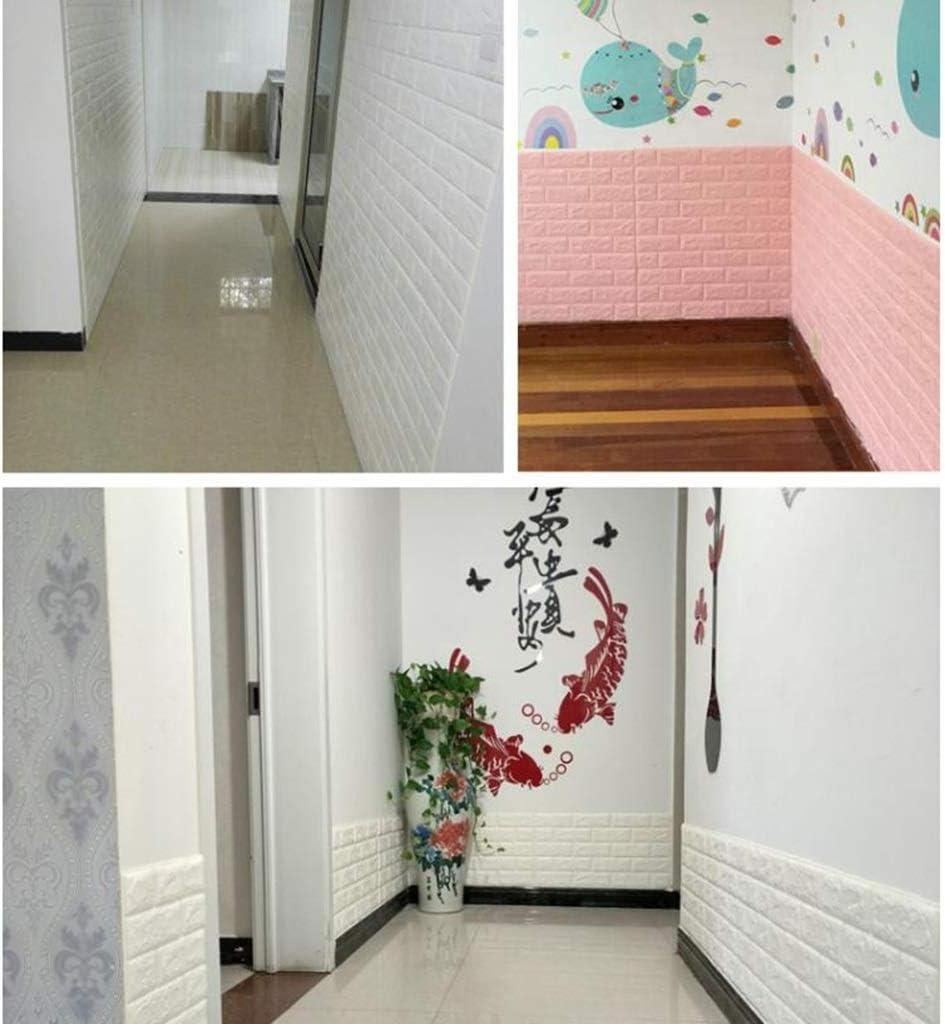 Papel tapiz autoadhesivo de espuma patrón de ladrillo papel de pared impermeable a prueba de humedad papel tapiz estéreo 3d 0.65 CM (Color : D): Amazon.es: Bricolaje y herramientas