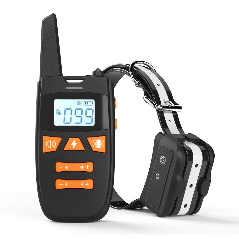 Dog Training Collar with Remote, Rechargeable Dog Shock Collar Up to Remote Range 2000FT & IPX7 Level Waterproof with Beep/Vibration/Shock 3 Training Modes for Small Medium Large Dogs, All Breeds