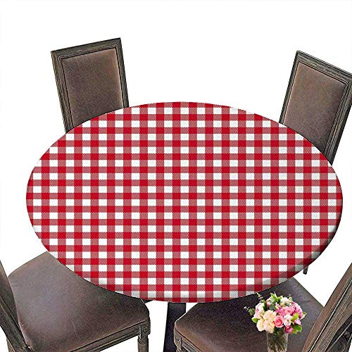 PINAFORE Modern Table Cloth red Traditional Gingham Concept Indoor or Outdoor Parties 59