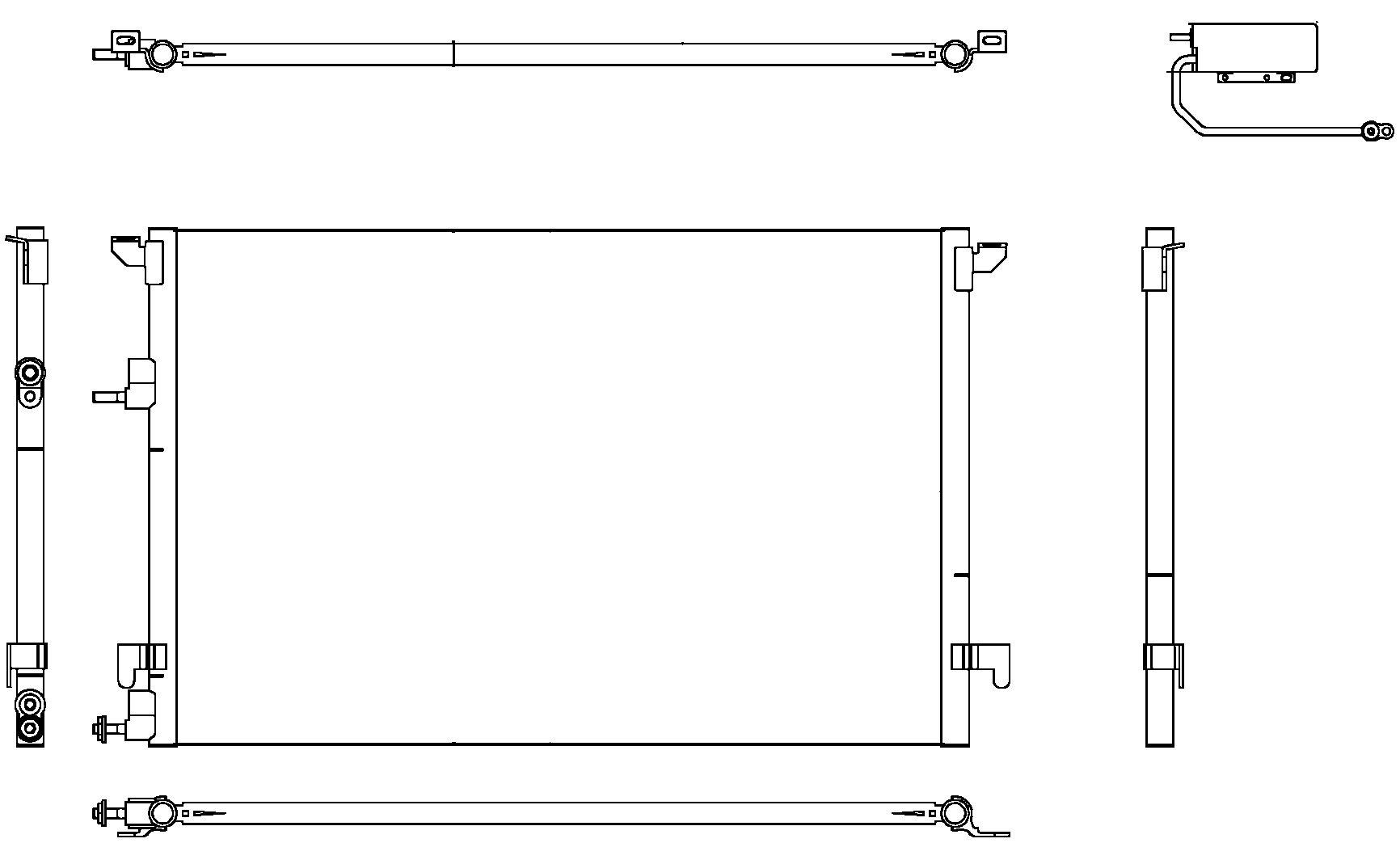 Behr Hella Service 351304471 Condenser for Saab 9-3 2L 03-08