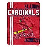 The Northwest Company MLB Arizona Cardinals Micro Raschel Throw, One Size, Multicolor