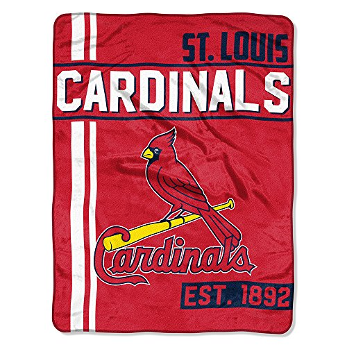 The Northwest Company MLB Arizona Cardinals Micro Raschel Throw, One Size, Multicolor