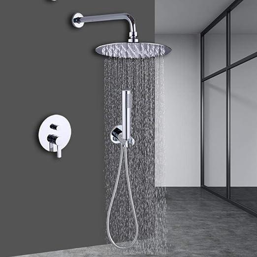 Grifo de ducha de baño oculto Cabezal de ducha de acero ...