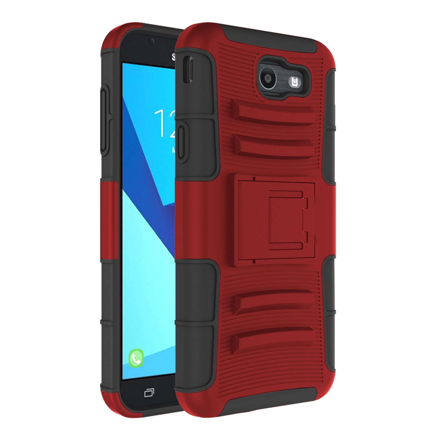 best sneakers b674e 41149 Galaxy J7 Sky Pro Case, J7 V Case, Elegant Choise Heavy Duty Armor  Shockproof Dual Layer [Swivel Belt Clip] Holster with [Kickstand] Combo  Rugged Case ...