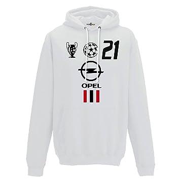 KiarenzaFD Sudadera Capucha Fútbol Vintage Andrea Milan Pirlo 21 Temporada 02 - 03 Champion 2: Amazon.es: Deportes y aire libre
