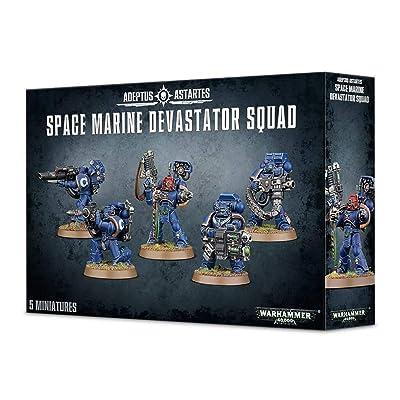 "Games Workshop 99120101231"" Space Marine Devastator Squad Plastic Kit: Toys & Games"