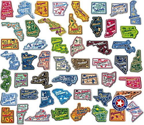 Complete Set of Premium State Map Magnets (State Fridge Magnets)