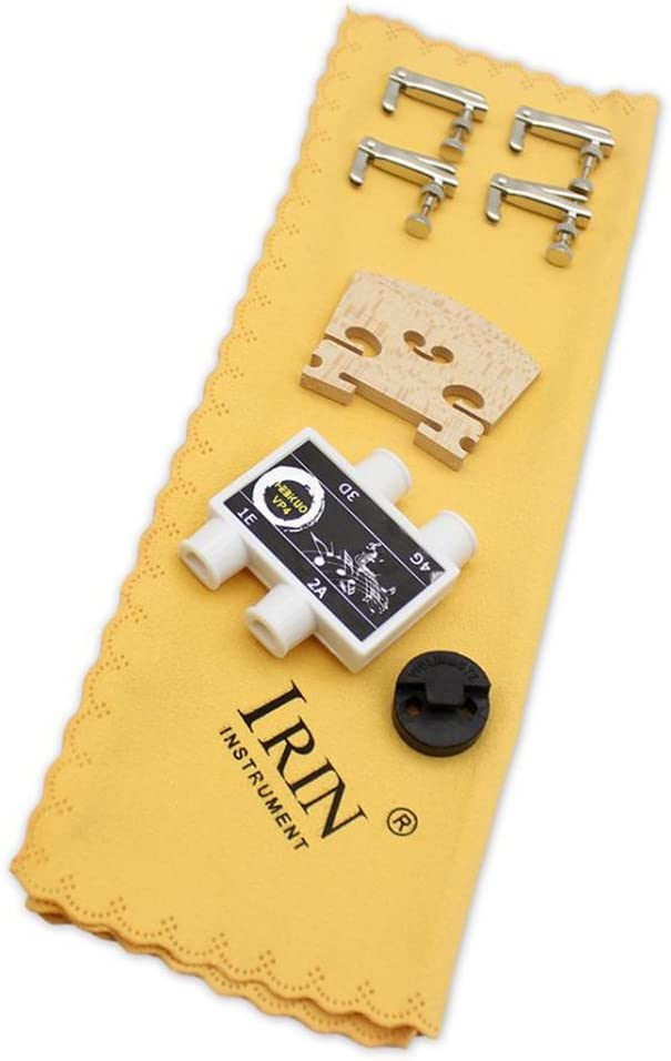 LoveinDIY Strings Bridge Pitch Pipe Fine Tuners Mute Cloth for 4//4 Violin