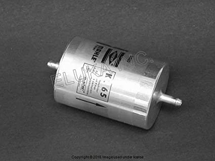 mercedes-benz fuel filter with 2 push-on fittings (75 mm diameter)