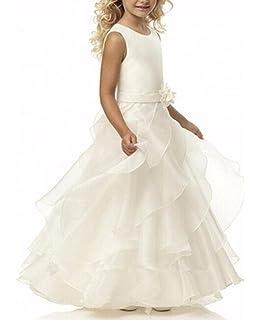 VIPbridal Prima Comunione Abiti per Le Ragazze Lungo Flower Girl Dress per  Matrimoni 51318d0f203