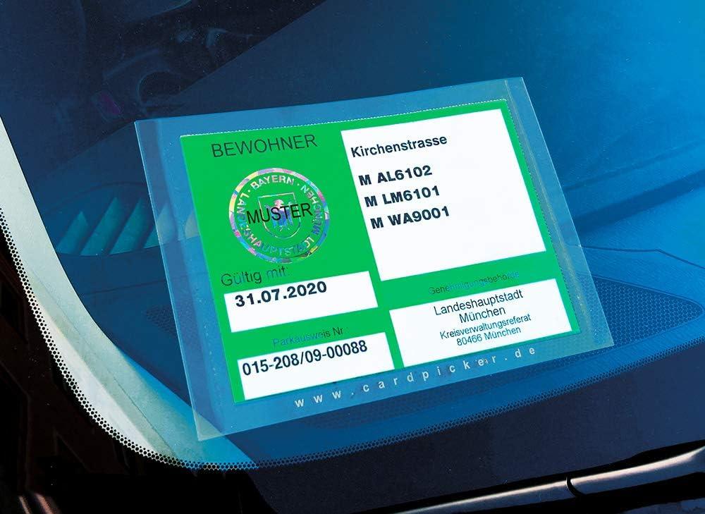 Cardpicker 2er Set Glasmagnet Parkausweis Halter Hülle Handwerker Selbsthaftend Adac Geprüft Auto