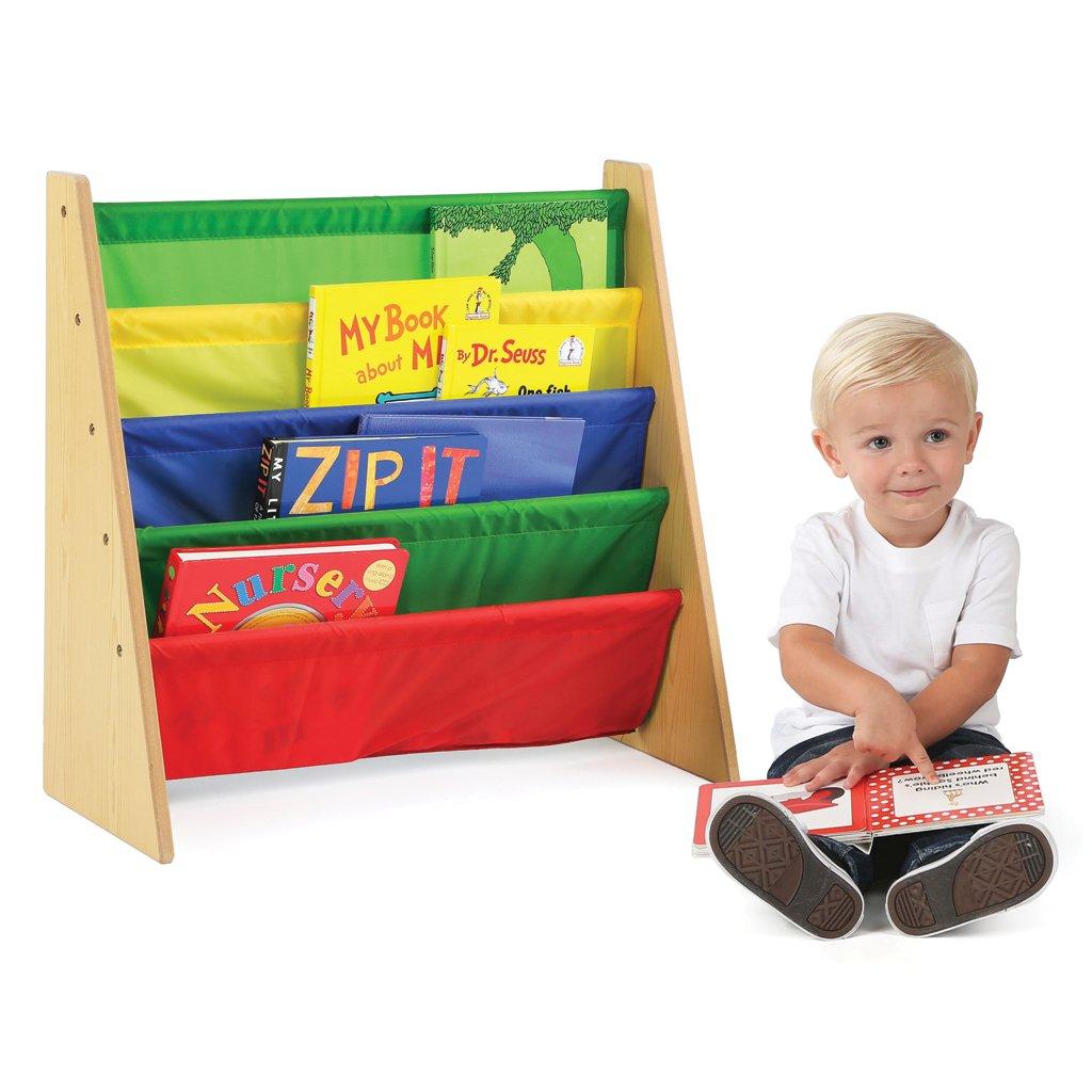 amazoncom tot tutors kids book rack storage bookshelf natural  - amazoncom tot tutors kids book rack storage bookshelf naturalprimary(primary collection) kitchen  dining
