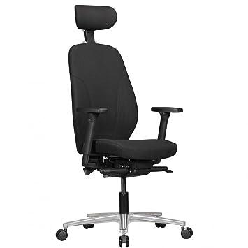 Chaise De Bureau Oskar Couverture En Tissu Appuie Tete En Noir