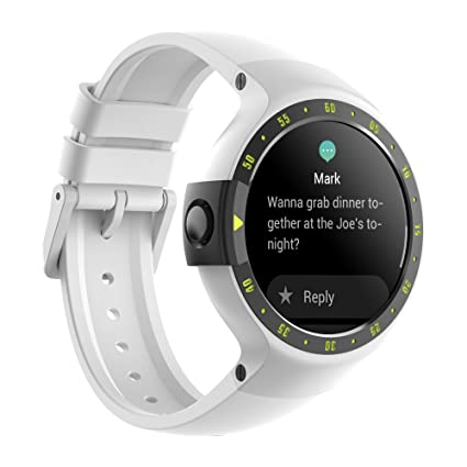 Ticwatch S Sport - Reloj inteligente con GPS, pantalla táctil OLED y resistente al agua, compatible con iOS y Android, sistema Android Wear 2.0, color ...