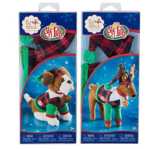 [The Elf on the Shelf Claus Couture Collection Playful Reindeer PJs AND Playful Puppy PJs] (Elf Dog Outfit)