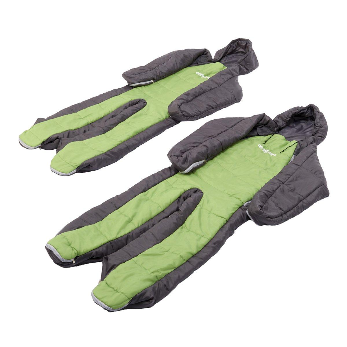 キャプテンスタッグ(CAPTAIN STAG) 寝袋 シュラフ 清潔 丸ごと洗える 人型寝袋 2個セットUZ-13060 B00NHD129A