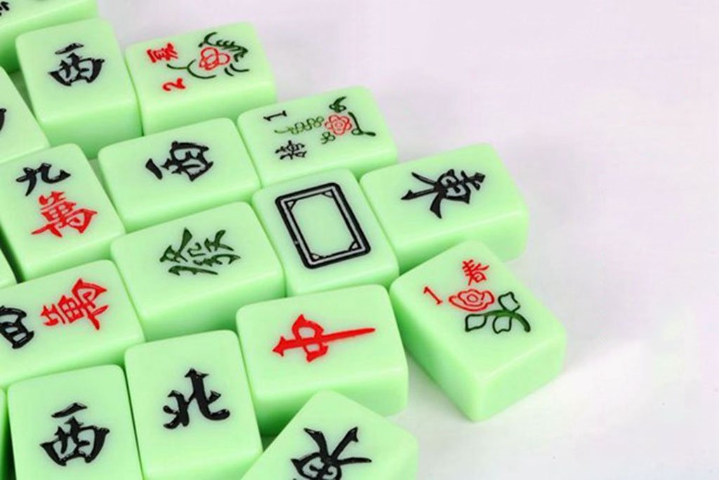 LI JING SHOP - Home Home Home Hand reiben Mahjong, grün solide Melamin Material Mahjong Karte, Größe: 4.0  3.1  2.1CM ( größe : 4.03.12.1CM ) 0bf456
