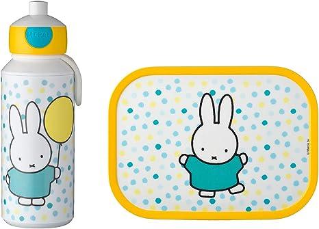 Mepal Modula Campus Miffy Confetti-Juego de Botella y Fiambrera Bento-Ideal para la Escuela y el Tiempo Libre-Apto para lavavajillas, plástico ABS, 2 ...
