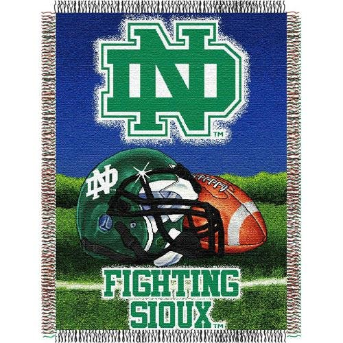 (The Northwest Company Officially Licensed NCAA North Dakota Fighting Sioux Home Field Advantage Woven Tapestry Throw Blanket, 48