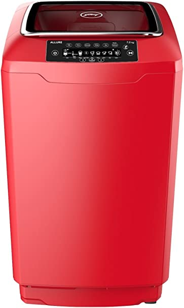 Godrej 7 kg Fully-Automatic Top Loading Washing Machine (WT EON Allure 700 PAHMP, Metallic Red, Inbuilt Heater) Washing Machines & Dryers at amazon