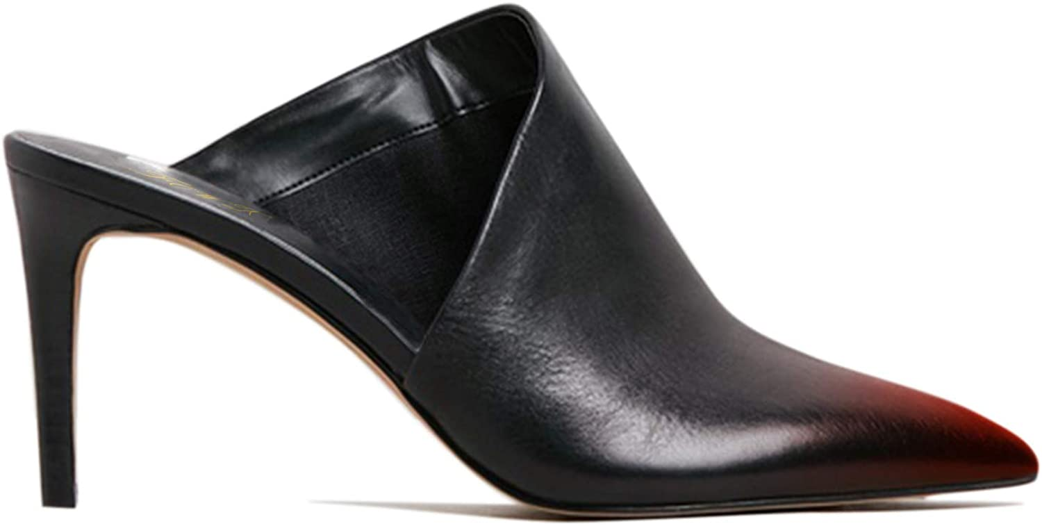 FOWT Mule High Heels for Women Pointed